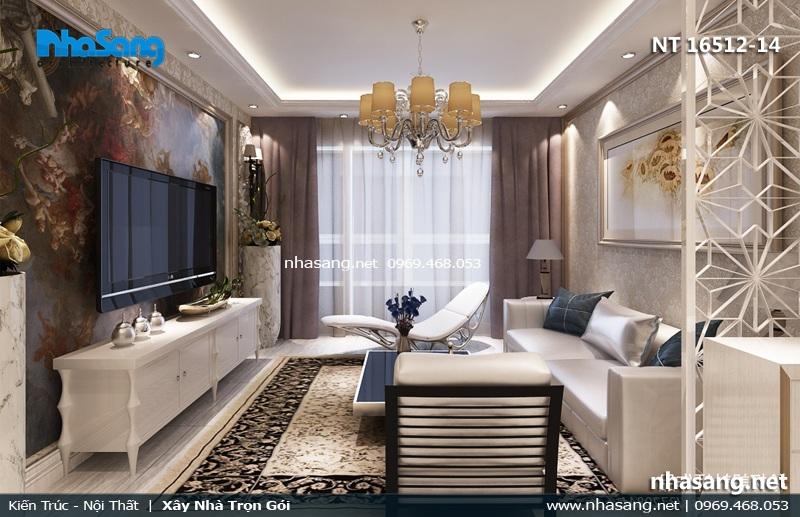 mẫu phòng khách căn hộ 3m3
