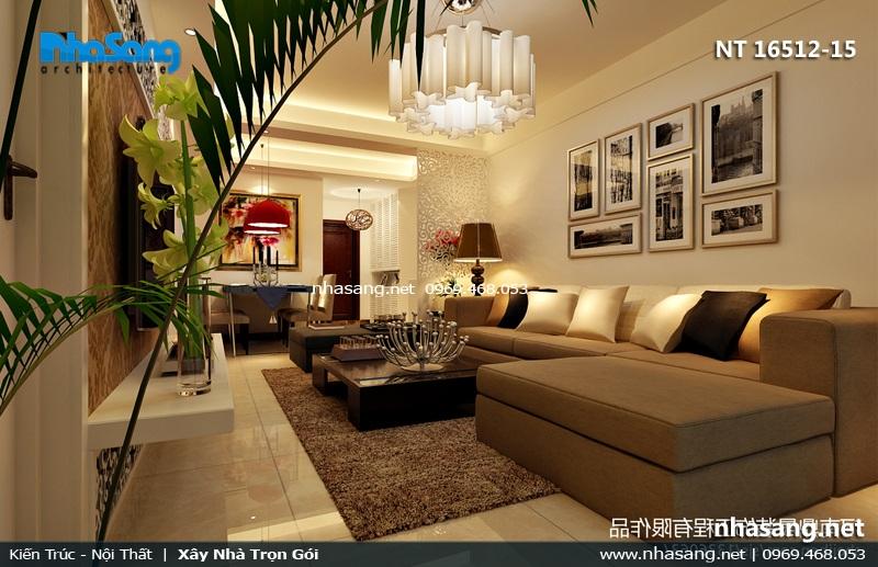 phòng khách đẹp cho nhà phố 3m3