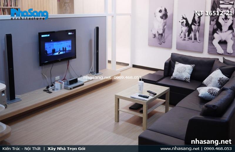 phòng khách đẹp cho chung cư mini