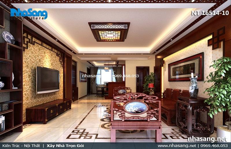 mẫu phòng khách đẹp kiểu Trung quốc