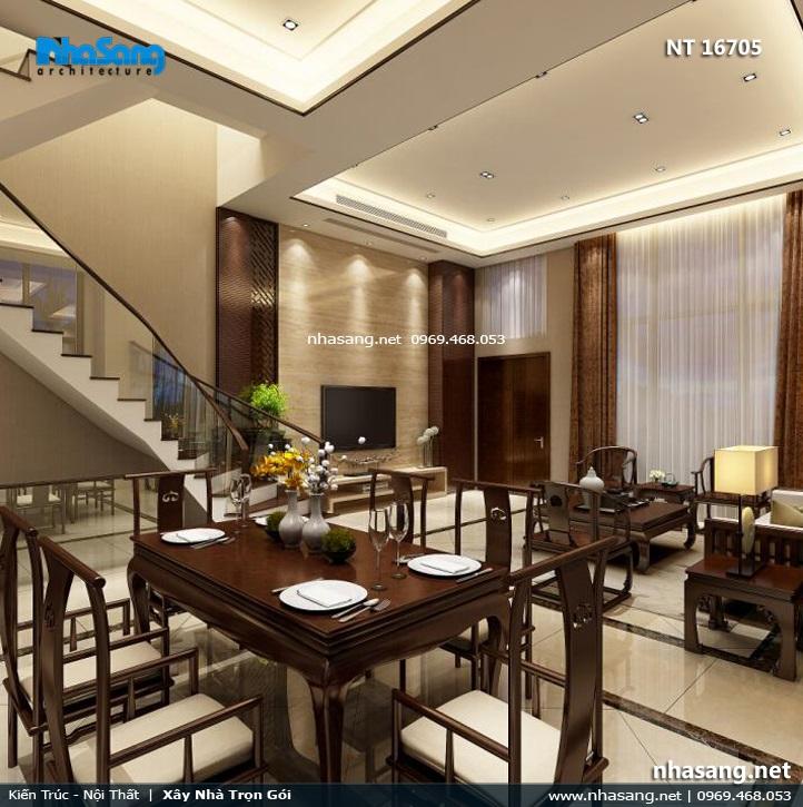 nội thất phòng ăn nhà phố 6m