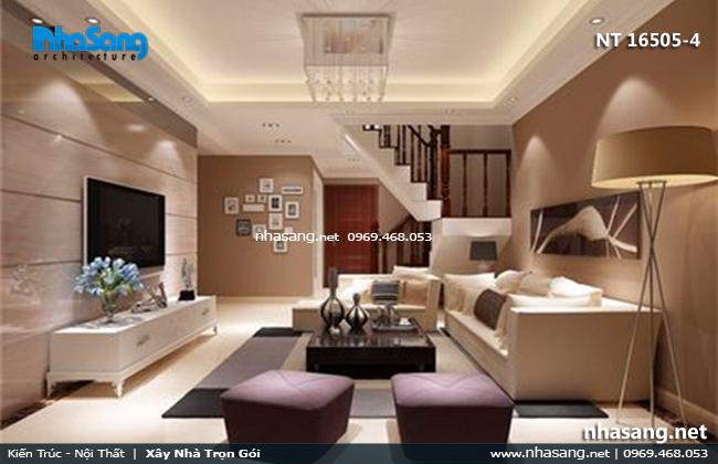 nội thất phòng khách nhà ống 3m6