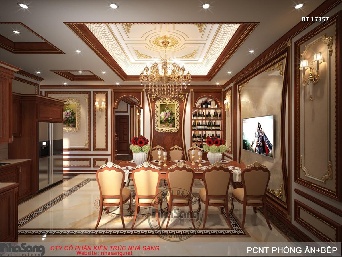 không gian bếp ăn