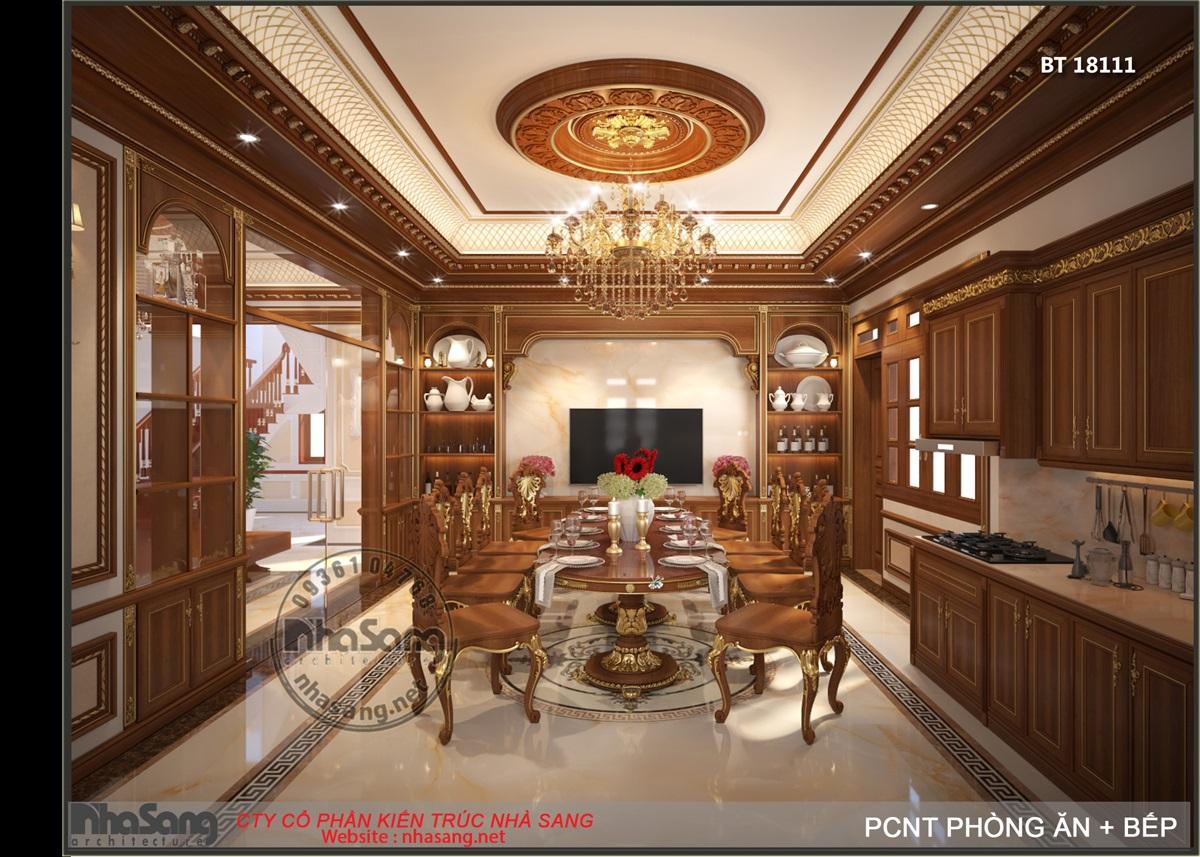 Phòng ăn nhìn từ bếp