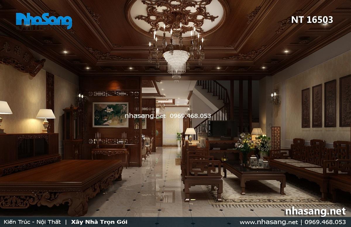 nội thất phòng khách đẹp gỗ tự nhiên