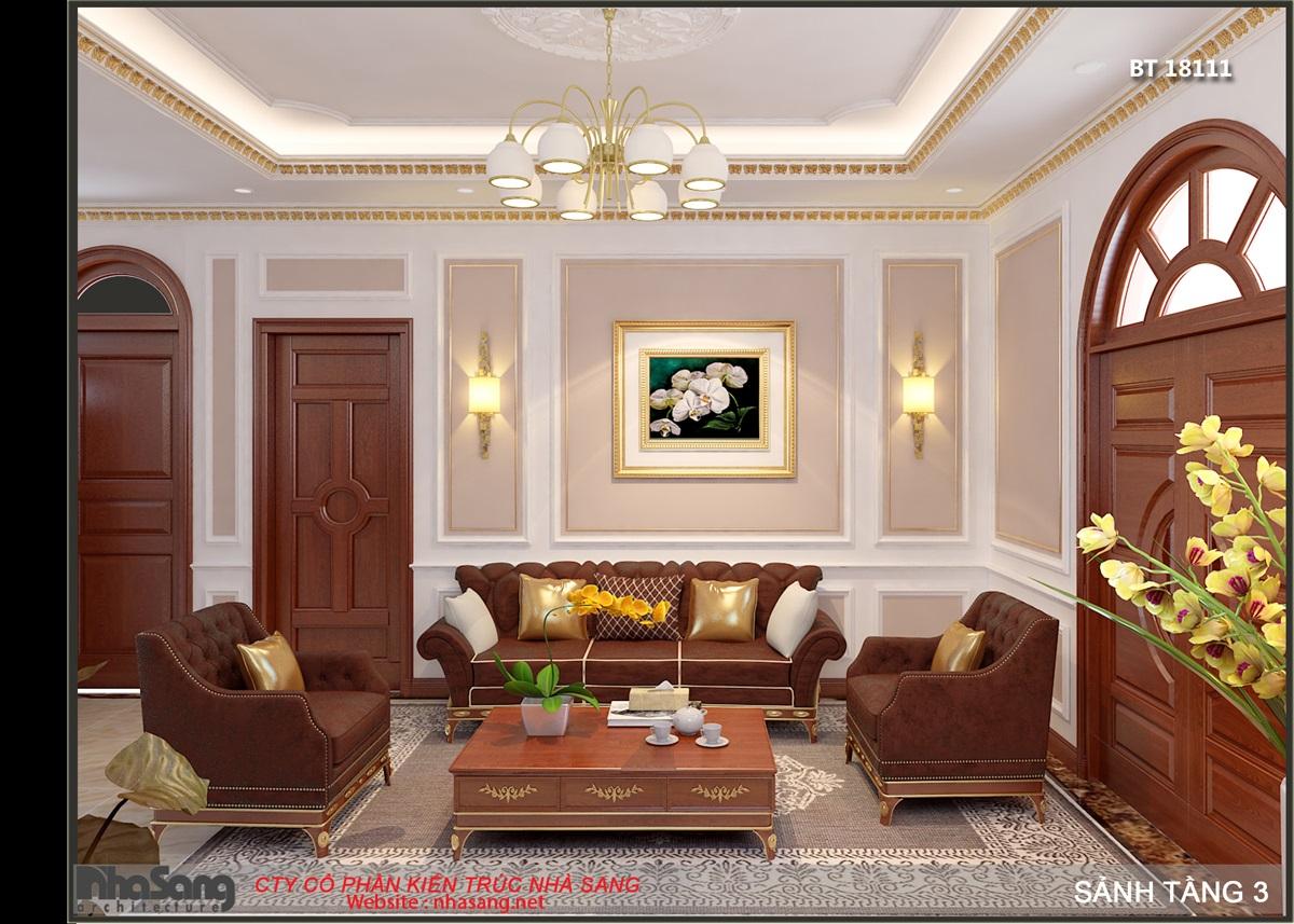 Nội thất phòng sinh hoạt chung tầng 3 - view 1