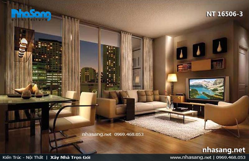 phòng khách chung cư đẹp cao cấp