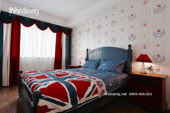 Phòng ngủ căn hộ kiểu Mỹ