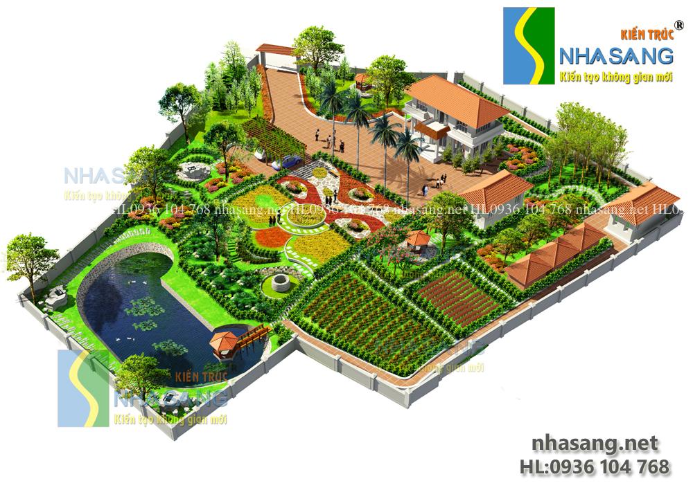 nhà vườn cực đẹp với không gian nhật bản và vườn hoa hà lan