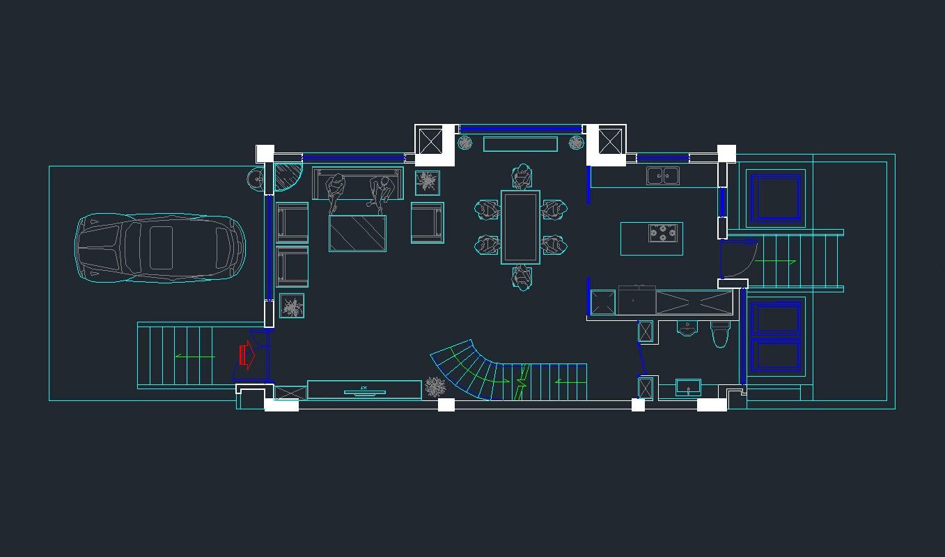 thiết kế nội thất biệt thự nhà phố mặt tiền 6m