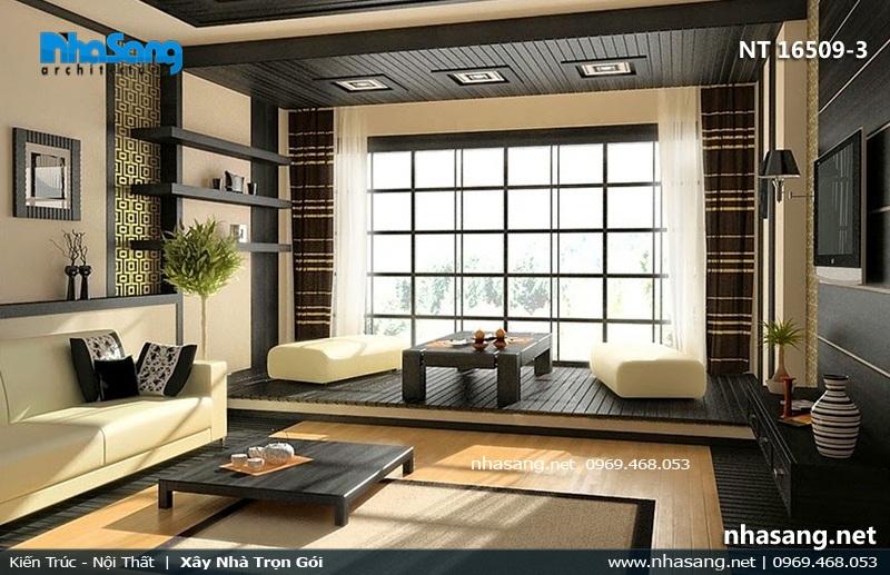 Phòng khách 20m2 kiểu Nhật Bản