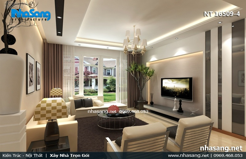 Phòng khách 20m2 cho villa