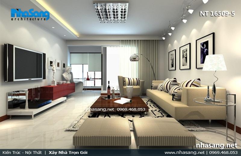 PHòng khách 20m2 cho chung cư