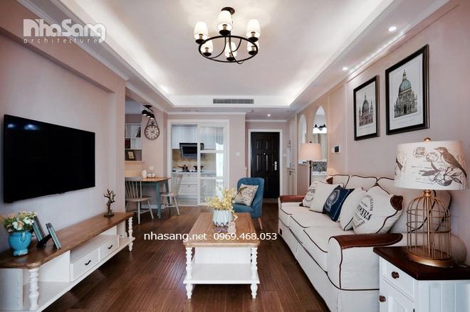 trang trí nội thất căn hộ chung cư kiểu mỹ