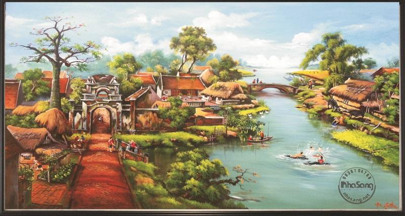 Tranh làng quê 4