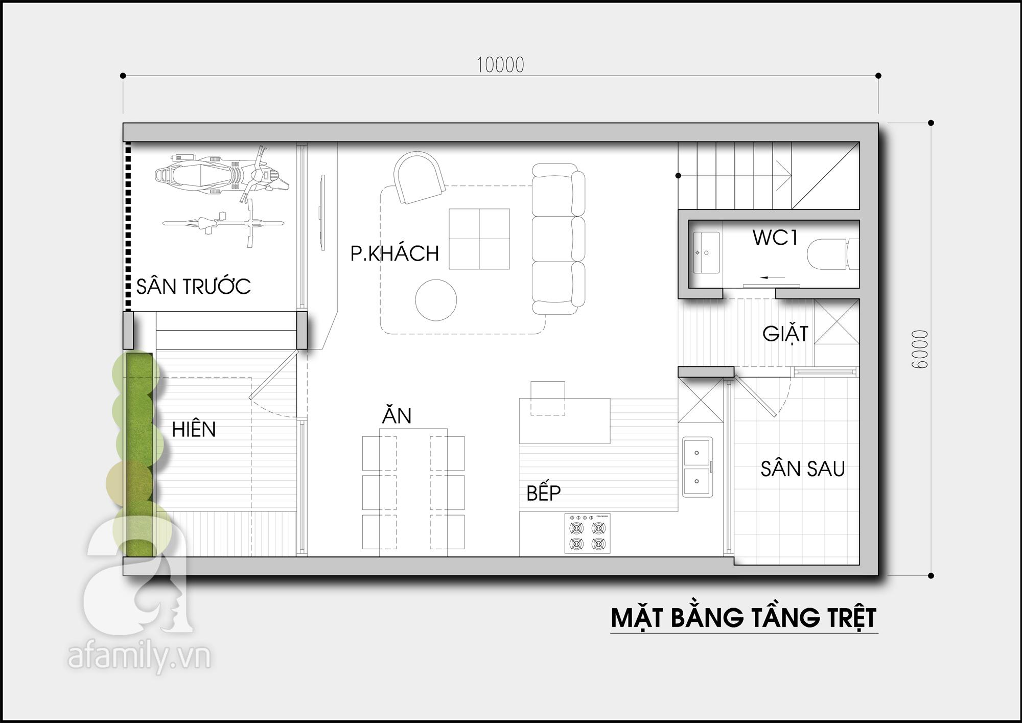 mặt bằng bản vẽ mẫu thiết kế nhà 2 tầng đẹp